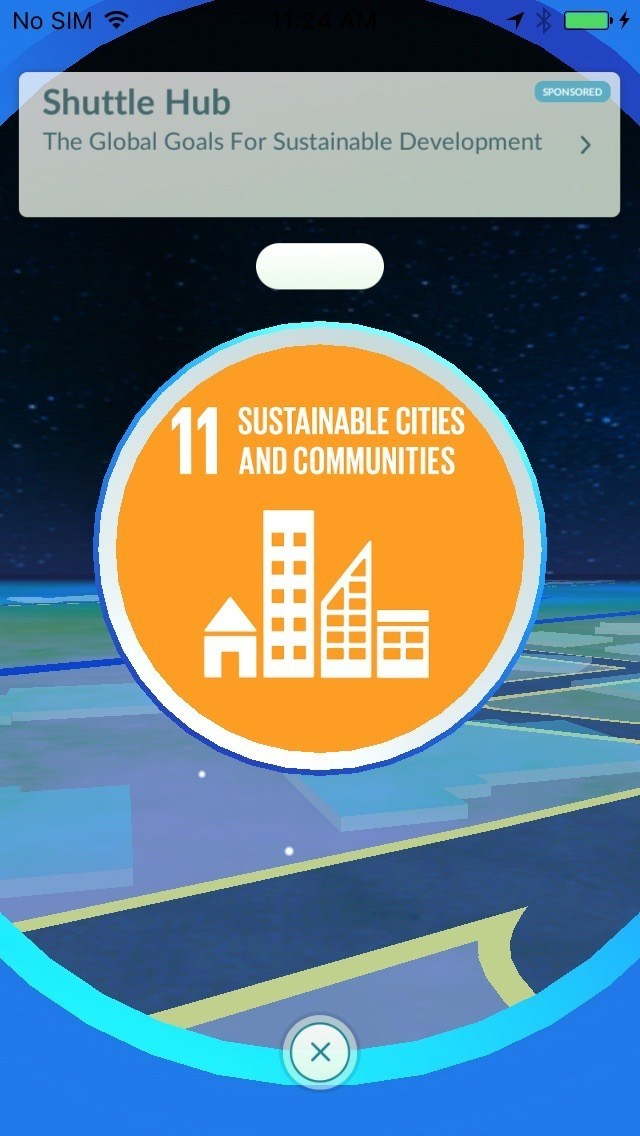 PokeStop 11 at Davos - Sustainable Cities and Communities (PRNewsFoto/Niantic and The Pokemon Company)