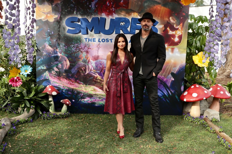 Culver City, CA - January 18, 2017 Demi Lovato (Smurfette) and Joe Manganiello (Hefty) attends Sony Pictures Animation Slate Presentation in Columbia Pictures and Sony Pictures Animation's SMURFS: THE LOST VILLAGE.