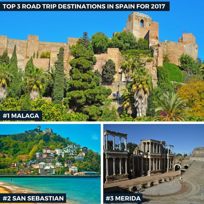 Top 3 Road Trip Destinations in Spain for 2017