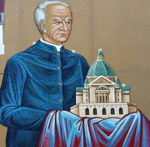 This rendering of Saint André of Montreal is among the mosaic images in the Ring below the Cathedral's Dome. (CNW Group/The Cathedral of the Transfiguration)