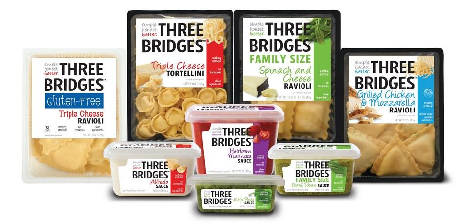 Three Bridges' rebrand products