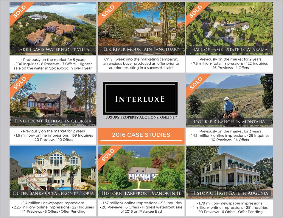 2016 Interluxe Highlights - From mountaintop to oceanfront and beyond, Interluxe offered many luxury properties across North America in 2016 and will offer even more diverse and unique offerings in the coming year. See more at http://www.interluxe.com