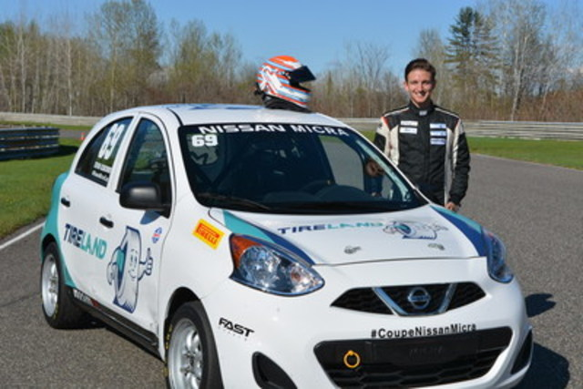Stefan Rzadzinski, Groupe Touchette's official racing driver (CNW Group/Groupe Touchette inc.)
