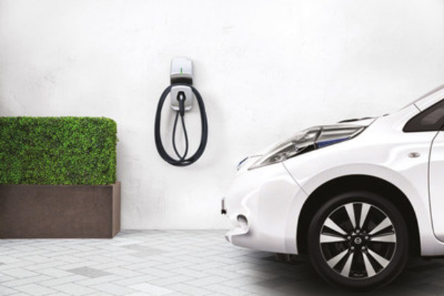 The FLO Home charging station, designed and manufactured in Quebec, is selected by Nissan Canada as the recommended residential charging station for owners of its popular electric car, the Nissan LEAF (CNW Group/FLO)