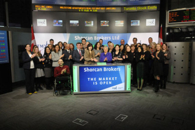 Peter Conroy, President, Shorcan Brokers Limited  opened the market in celebration of Shorcan Brokers 19th Annual Charity Day. On January 19 Shorcan will donate 100% of the day's revenue to over 20 designated charities. Since 1999, Shorcan has donated over $7,000,000 to various charities and organizations. Shorcan Brokers Limited is a subsidiary of TMX Group. (CNW Group/TMX Group Limited)