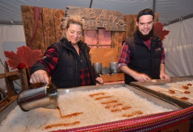 Two Sugar Shacks will be serving authentic Ontario Maple Taffy all weekend (Photo Credit: Connie Tsang) (CNW Group/Water's Edge Festivals & Events)