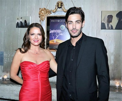 Alysia Helming, pictured with Greek star, Kostas Martakis, at the launch of Protogenesis.
