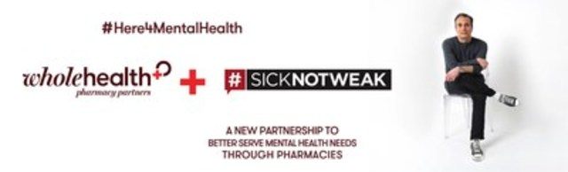 #Here4MentalHealth a new partnership between Whole Health Pharmacy Partners and #SickNotWeak to better serve mental health needs through pharmacies. (CNW Group/Whole Health Pharmacy Partners)