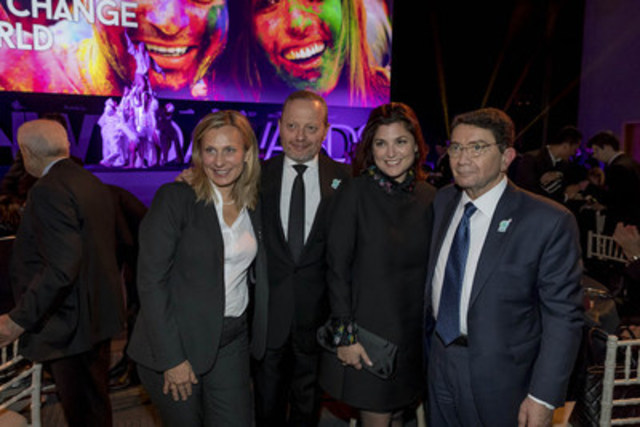 Pictured from left to right: Cordula Wohlmuther, UNWTO Head of Institutional Relations and Resource Mobilization / IY2017; Brett Tollman, CEO of The Travel Corporation, Miranda Tollman; Dr. Taleb Rifai, Secretary General of the UNWTO (CNW Group/The Travel Corporation)