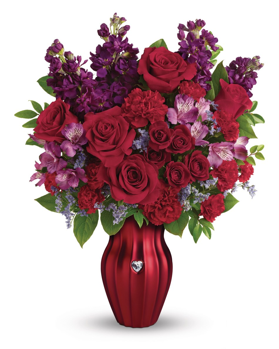 Teleflora's Shining Heart Bouquet from its NEW 2017 Valentine's Day Floral Collection (www.teleflora.com)