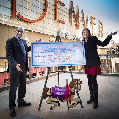 Denver Pavilions Presents Food Bank of the Rockies $5,000 from the Denver Pavilions Holiday Carousel Proceeds.