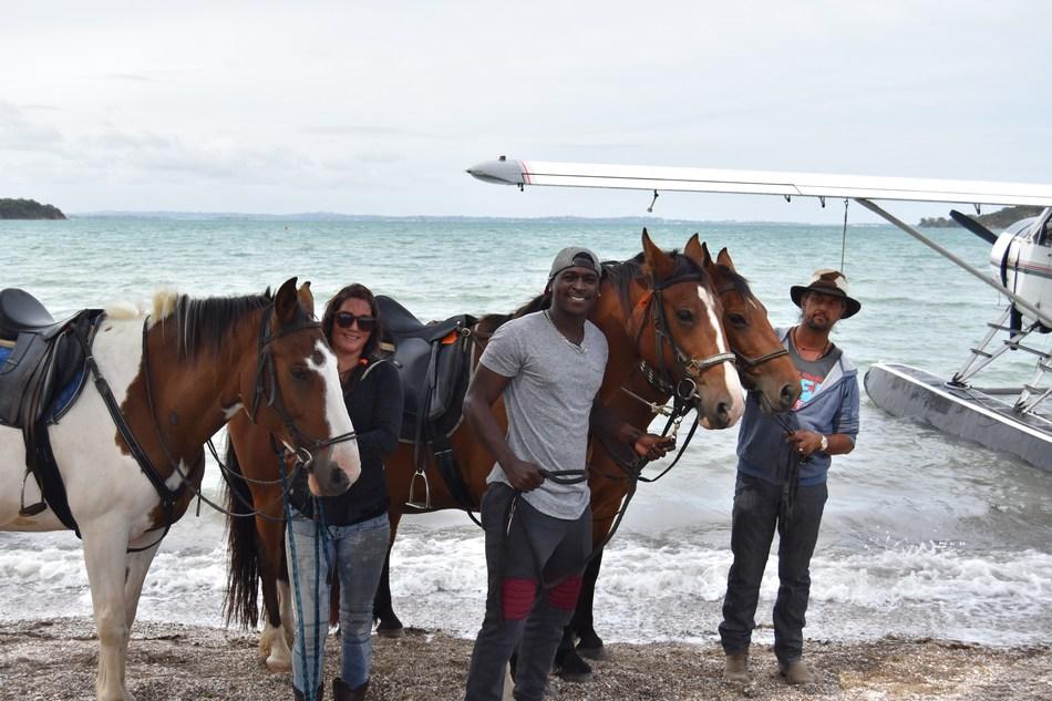 New York Yankees short stop Didi Gregorius explores Waiheke Island on horseback