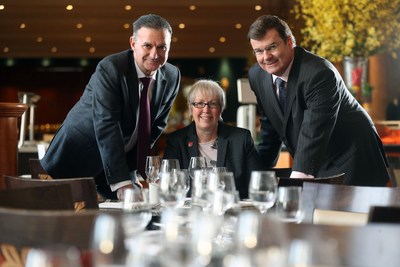 Left to right, Ian Edwards, Helen Langton and Mike Morgan (PRNewsFoto/University of South Wales)