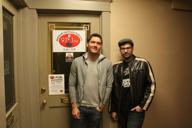 The film's director, Seth Breedlove (R) and it's composer Brandon Dalo (L)