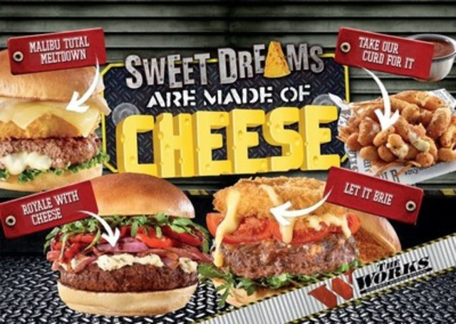 Sweet Dreams are definitely made of Cheese at The WORKS Gourmet Burger Bistro (CNW Group/The WORKS Gourmet Burger Bistro)