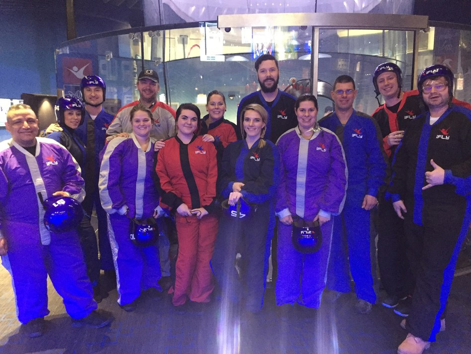 A group of Wounded Warrior Project(R) (WWP) veterans and family members recently experienced the thrill of skydiving - without having to jump from a perfectly good airplane.