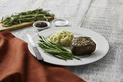 Filet Mignon with Yukon Gold mashed potatoes and haricot vert