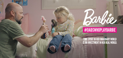 """As part of the """"You Can Be Anything"""" campaign, Barbie introduces """"Dads Who Play Barbie"""" focused on inspiring and nurturing the limitless potential in every girl. The ads feature real dads and their daughters playing Barbie, to highlight that a dad's involvement in his daughter's imaginary play contributes to her social, intellectual and emotional development in real life."""