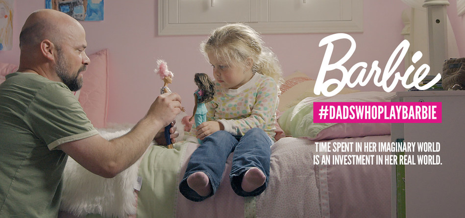 "As part of the ""You Can Be Anything"" campaign, Barbie introduces ""Dads Who Play Barbie"" focused on inspiring and nurturing the limitless potential in every girl. The ads feature real dads and their daughters playing Barbie, to highlight that a dad's involvement in his daughter's imaginary play contributes to her social, intellectual and emotional development in real life."