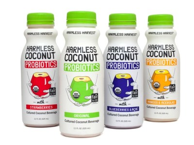 Harmless Harvest--the world's first Fair For Life certified organic coconut water producer--announces the launch of its newest product, a line of organic probiotic cultured coconut beverages called Harmless Coconut Probiotics.