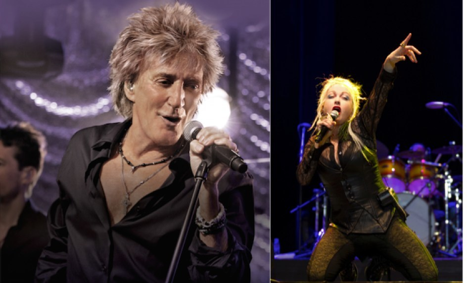 Two of music's most acclaimed artists and powerhouse live performers will tour together this summer when Rod Stewart is joined by special guest Cyndi Lauper for an 18-city tour.