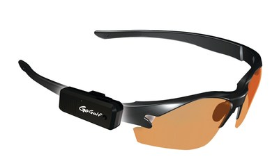 Picture of GoGolf GPS on sunglasses frame