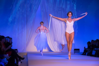 LINGERIE, MON AMOUR : French Lingerie Show  Ballet Trends :  A cloud of Sylphides in a tutu reveals nude colored undergarments in brilliant white, cream, champagne or flesh. Precious materials, refined details, and pretty ribbons dance this romantic ballet. (PRNewsFoto/Promincor-Lingerie Française)