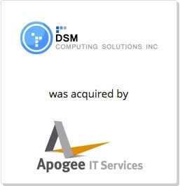 Apogee IT Services continues international expansion with strategic acquisition of DSM Computing Solutions Inc.