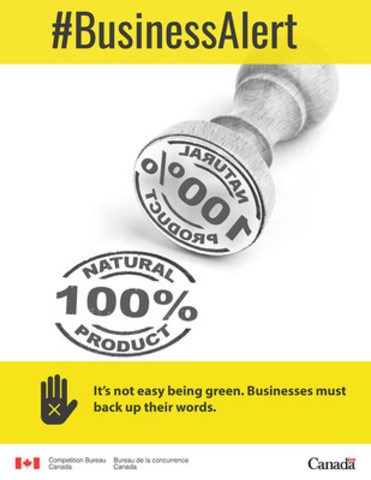It's not easy being green. Businesses must back up their words. (CNW Group/Competition Bureau)