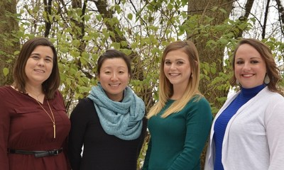 L to R: Maria Meintanis, MEd, MS, Program Therapist SooMi Lee-Samuel, MD, MA, Medical Director Jessica Elbe, MSW, LCSW, Director of Continuing Care Samantha Hicks, MA, LCPC, CADC, Program Therapist