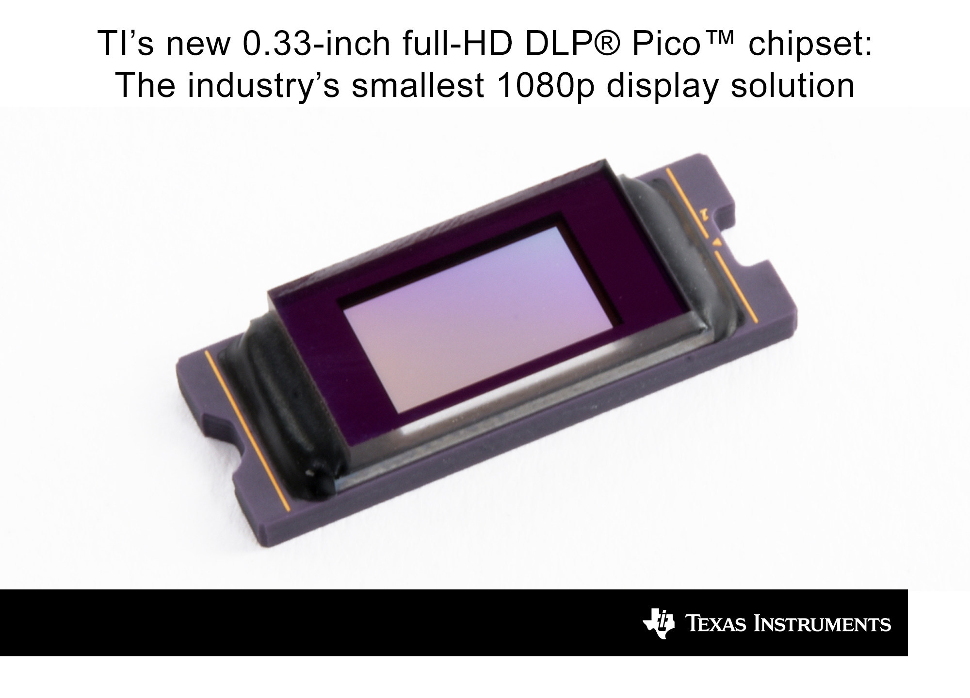 "TI picofies 1080P DLP with new 0.33"" DMD chipset"