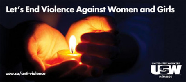 Let's End Violence Against Women and Girls: USW's anti-violence initiative. (CNW Group/United Steelworkers (USW))
