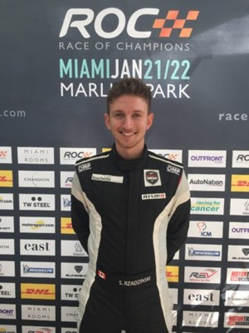 Stefan Rzadzinski, Nissan Micra Cup driver, makes his debut at the 2017 Race Of Champions (CNW Group/Nissan Canada Inc.)