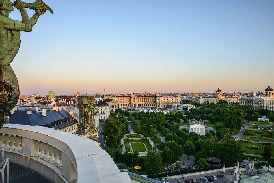 Vienna establishes 7th record in succession with 14.96 million visitor bednights in 2016. Credit: Vienna TouristBoard/Christian Stemper. (PRNewsFoto/Vienna Tourist Board)