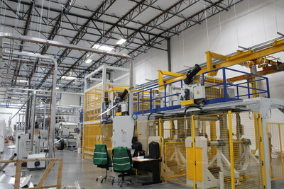 Lollicup USA's Reifenhauser extruder creates plastic sheets needed for plastic cup and lid manufacturing.