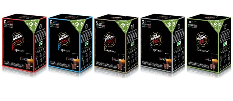 Èspresso1882 by Caffè Vergnano, the first range of compostable capsules compatible with OriginaLine machines by Nespresso. The greenest way to taste the perfect Italian Espresso every day and have a coffee that's good for the environment too.  Caffè Vergnano is the oldest Italian roastery and has over 130 years of experience and prestigious tradition. It has been managed by Vergnano Family for 4 generation and it is now lead by five family members. (PRNewsFoto/Caffè Vergnano)