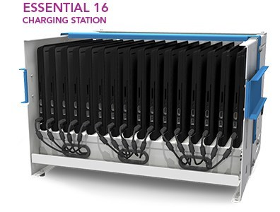 Charge and secure up to 16 Chromebooks, tablets, or notebooks with this cost-effective solution that can be mounted on a wall or desktop. The Essential 16 Charging  Station is a flexible solution for schools that is well-suited for 1:1 technology initiatives, small class sizes, large class sizes, charging in central locations, and more.