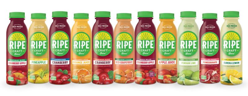 The Ripe Craft Juice Portfolio is liquid produce in your glass.