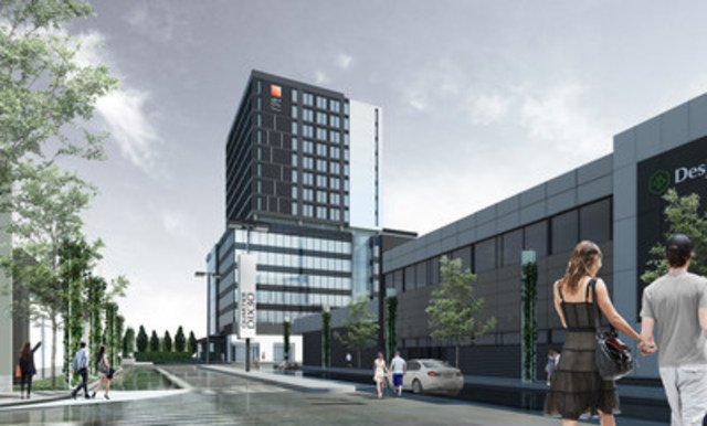 Quartier DIX30 is excited to announce that Groupe Germain Hotels is opening a new hotel on site, in 2018 - the first Canadian location for its new, four star Alt+ banner (CNW Group/Quartier DIX30)
