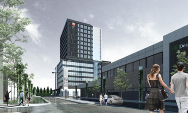 Quartier DIX30 est très heureux d'annoncer que le Groupe Germain Hôtels inaugurera un nouvel hôtel Alt+ sur son site, en 2018 - la toute première adresse au pays de sa nouvelle bannière hôtelière : Alt+ (Groupe CNW/Quartier DIX30)