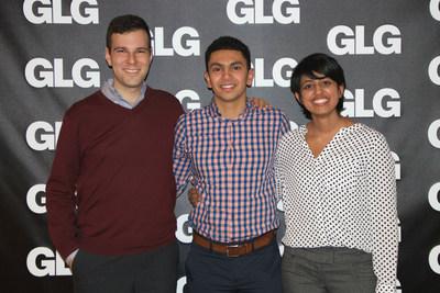 "(L-R) Samuel ""Gus"" Ruchman, Ahmed Elsayyad, and Neha Sikka"