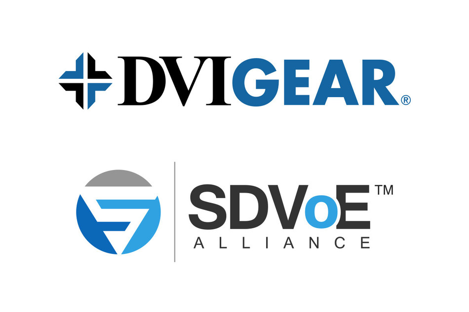 DVIGear Joins the SDVoE Alliance.  Industry Alliance Accelerates the Rapid Transition to AV-over-IP Technology. (PRNewsFoto/DVIGear)