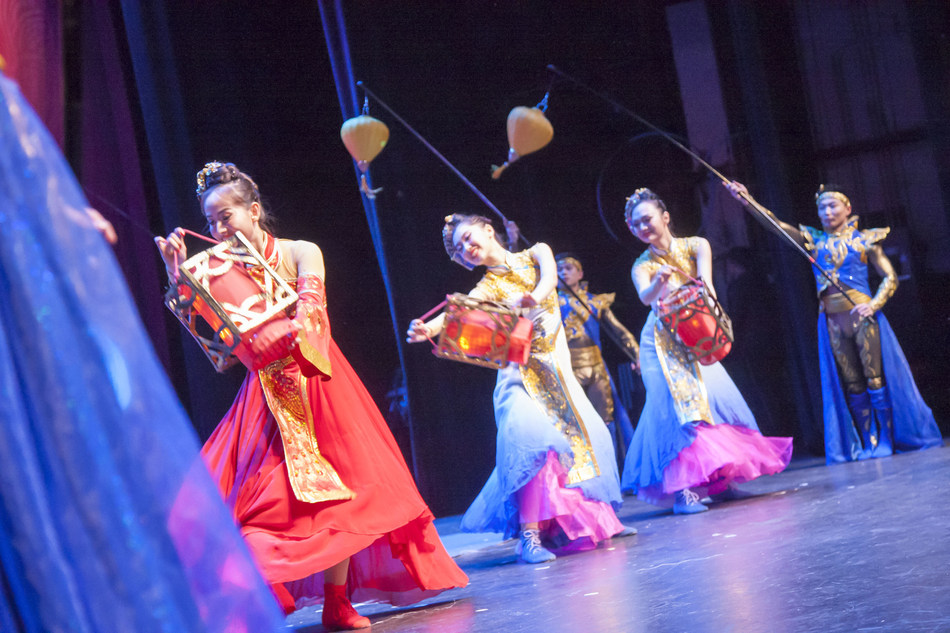 """Dancers performing at the """"Happy Chinese New Year - Charming Beijing"""" variety show on January 21"""