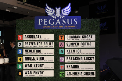 The $12 Million Pegasus World Cup Invitational's Post Position Draw. Photo Credit: World Red Eye