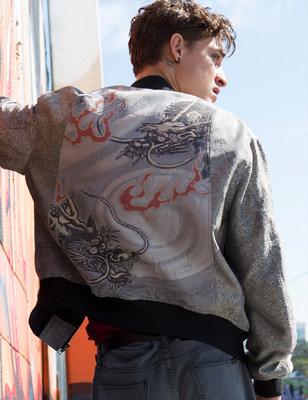 Twin dragon bomber jacket - HIROMI ASAI 2017 Mens Collection