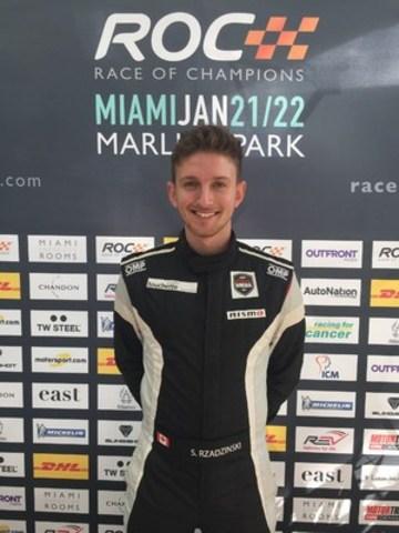 Stefan Rzadzinski, pilote de la Coupe Nissan Micra, qui fait ses débuts à la Race Of Champions de 2017 (Groupe CNW/Nissan Canada Inc.)