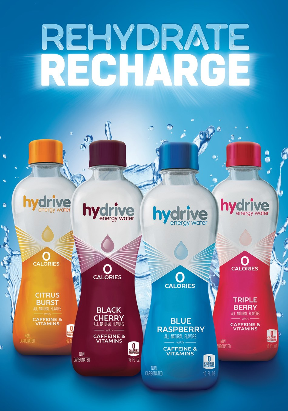 Hydrive Energy Water Relaunches with a New Zero-Calorie Enhanced Formula and Updated Brand Image