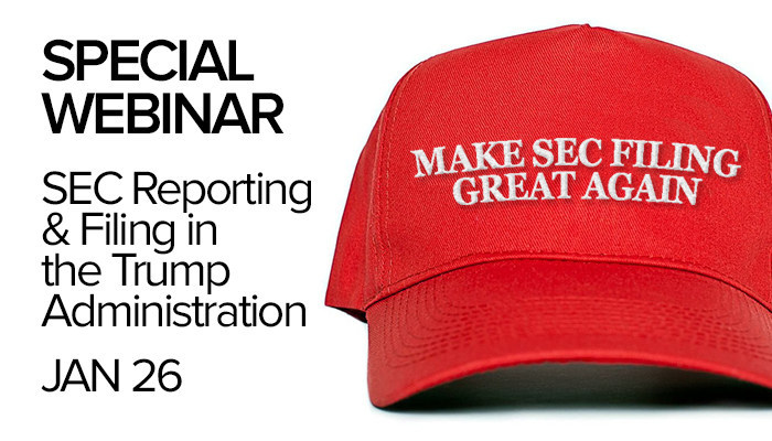 Webinar invite: SEC Reporting & Filing in the Trump Administration - Jan 26, 1:00 PM ET. 2017's first - and bipartisan - webinar to examine the possible regulatory impact of the new administration on public companies. REGISTRATION & DETAILS: https://www.bna.com/sec-reporting-filing-m73014449248/