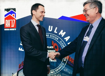 Sergey Fateev, members of the board of directors, Ulmart and Sergey Garmonin, Russian ambassador in Switzerland (PRNewsFoto/Ulmart)