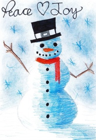 Eleven-year-old Raavin from British Columbia was named the grand prize winner of the annual Pier 1 Imports/UNICEF/Owlkids Greeting Card Contest. (CNW Group/UNICEF Canada)